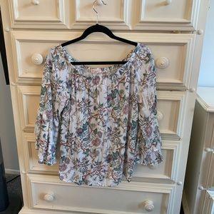 Floral, long sleeve, L blouse